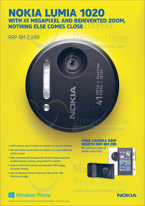 Featured image for Nokia Lumia 1020 Smartphone Features & Price 29 Sep 2013