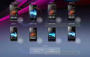 Featured image for Sony Xperia Smartphones No Contract Price List Offers 30 Sep 2013