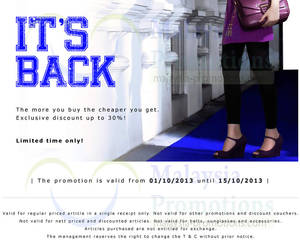 Featured image for Summit Shoes Up To 30% Off Promo 1 – 15 Oct 2013