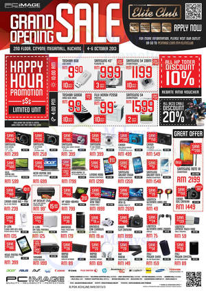 Featured image for PC Image Grand Opening SALE @ Cityone Megamall Kuching 4 – 6 Oct 2013