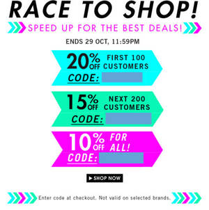 Featured image for Zalora Up To 20% OFF Storewide Coupon Code 29 Oct 2013