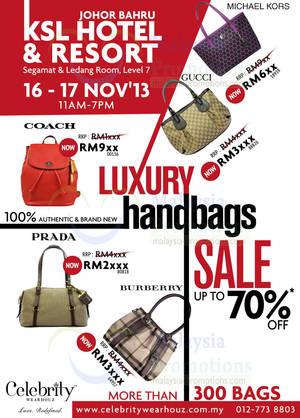 70106597642f Celebrity Wear Houz Luxury Handbags SALE Up to 70% OFF   KSL Hotel   Resort  JB 16 – 17 Nov 2013
