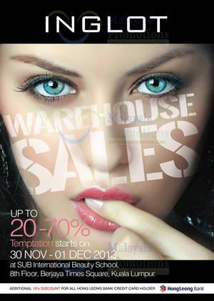Featured image for Inglot Warehouse SALE @ Berjaya Times Square 30 Nov – 1 Dec 2013
