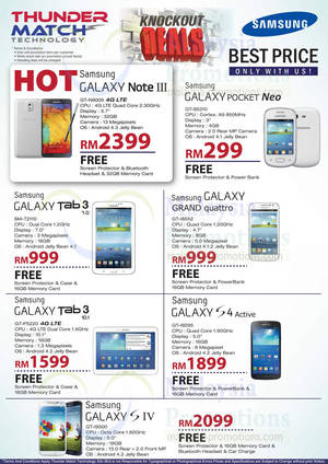 Featured image for Thunder Match Samsung Smartphones & Tablets Offers 31 Oct 2013