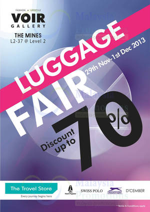 Featured image for Voir Group Luggage Fair @ The Mines 29 Nov – 1 Dec 2013
