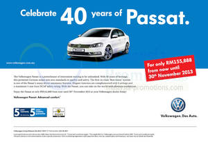 Featured image for Volkswagen Passat Promo Offer 29 Nov 2013
