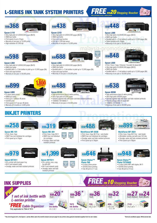 13 Dec NCS Epson L Series Ink Tank Printers, Inkjet Printers
