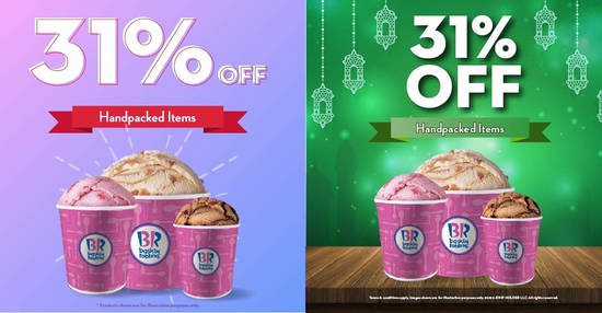 Featured image for Baskin-Robbins: Save 31% off handpacked ice cream on 31 July 2021