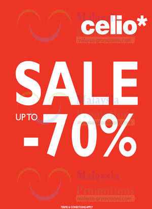 Featured image for Celio* Up To 70% OFF SALE 30 Dec 2013 – 5 Jan 2014