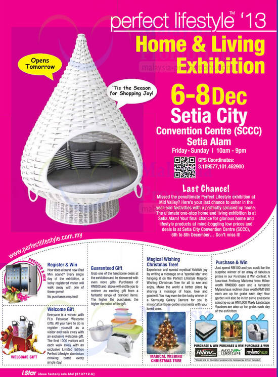 Date, Venue, Time, Free Gift, Purchase n Win