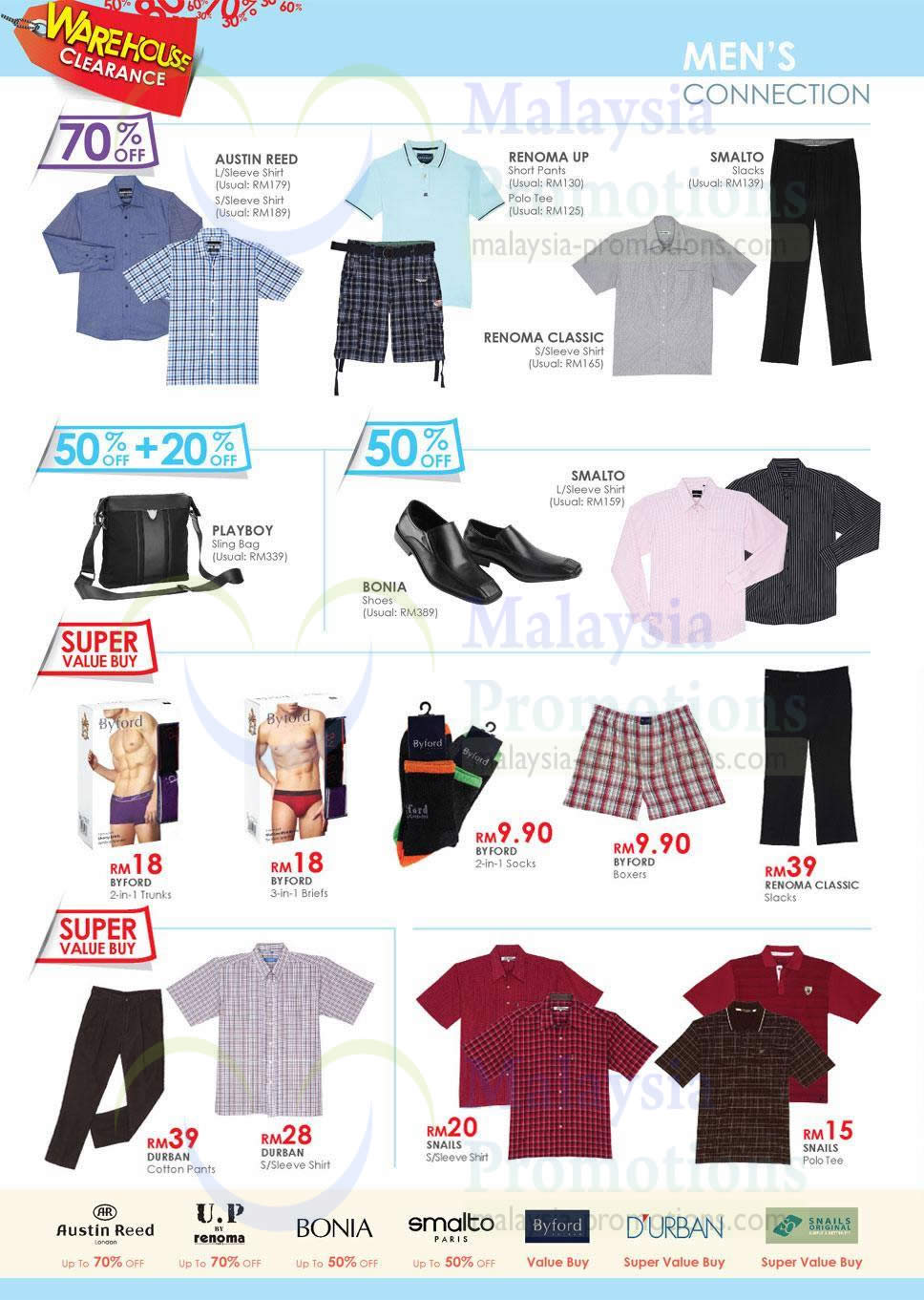Mens Conneciton Austin Reed Renoma Playboy Bonia Smalto Byford Durban Kl Sogo Warehouse Clearance Sale Up To 70 Off Price List Offers 1 5 Jan 2014 Msiapromos Com