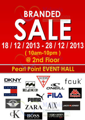 Featured image for Branded SALE @ Pearl Point 18 – 28 Dec 2013