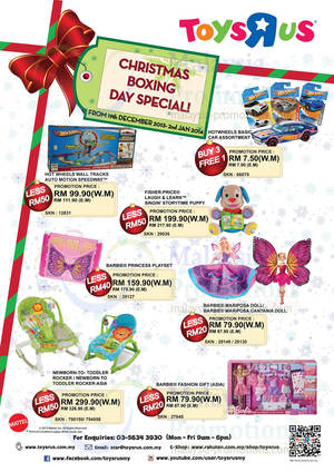 """Featured image for Toys """"R"""" Us Mattel Barbie, Fisher Price & Hot Wheels Promo 19 Dec 2013 – 2 Jan 2014"""