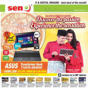 Featured image for SenQ Digital Cameras, Notebooks, Tablets & Smartphone Offers 1 Jan 2014