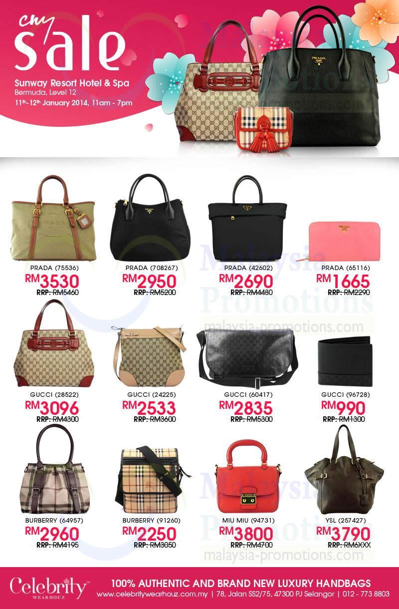 Celebrity Wearhouz Up To 70 Off Branded Handbags Sunway Resort 11 12 Jan 2017