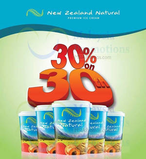 Featured image for New Zealand Natural 30% OFF Ice Cream Take Home Packs Promo 30 Dec 2015