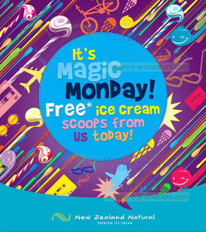 Featured image for New Zealand Natural FREE Ice Cream Upgrade Mondays Promo 3 Feb 2014