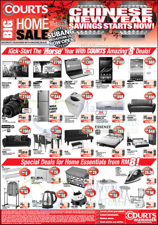 Courts Cny Deals Offers 31 Jan 2 Feb 2014