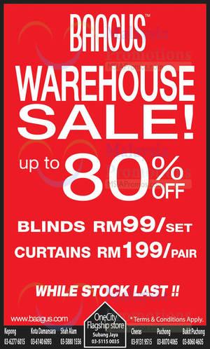 Featured image for Baagus Curtain Warehouse SALE 28 Feb 2014