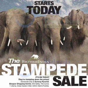 Featured image for BritishIndia Stampede SALE @ Nationwide 27 Feb – 16 Mar 2014