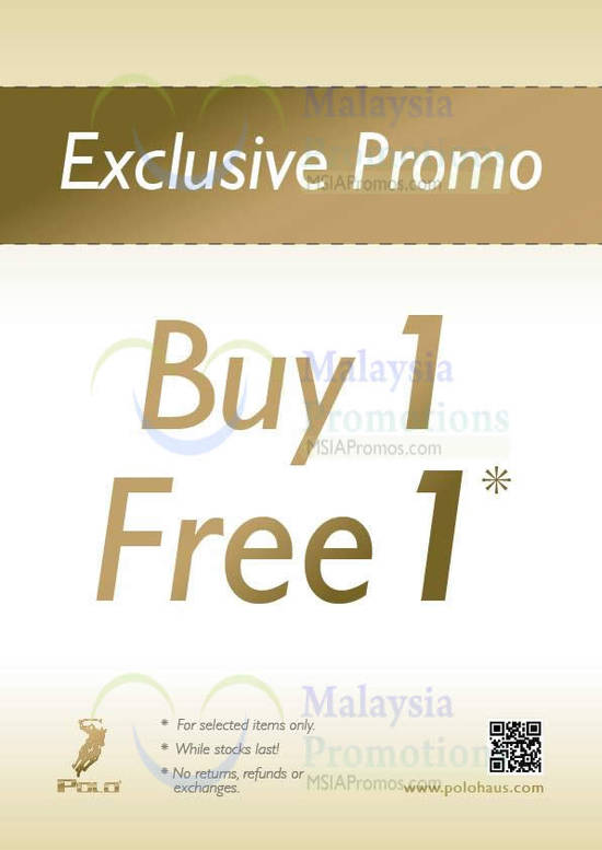Buy 1 Free 1 Selected Items