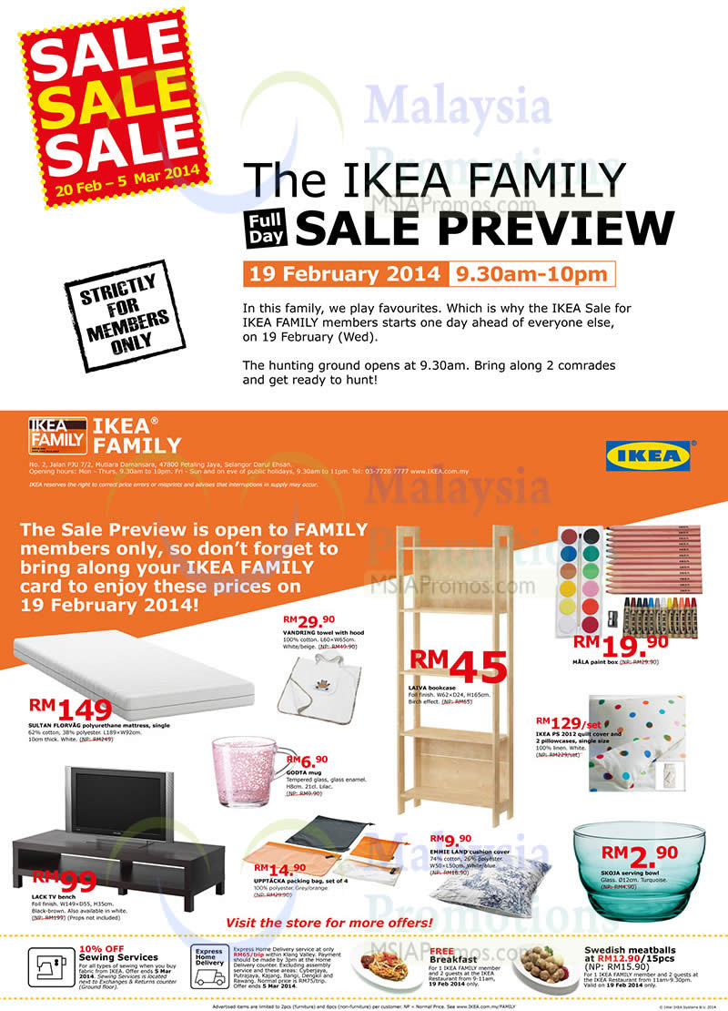 Ikea family offers 17 feb 2014 ikea sale 20 feb 5 mar for Coupon mobile ikea