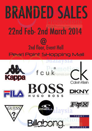 Featured image for Branded SALE @ Pearl Point 22 Feb – 2 Mar 2014