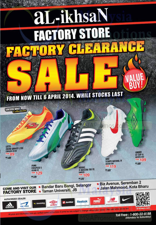 Al-Ikhsan Factory Clearance Sale