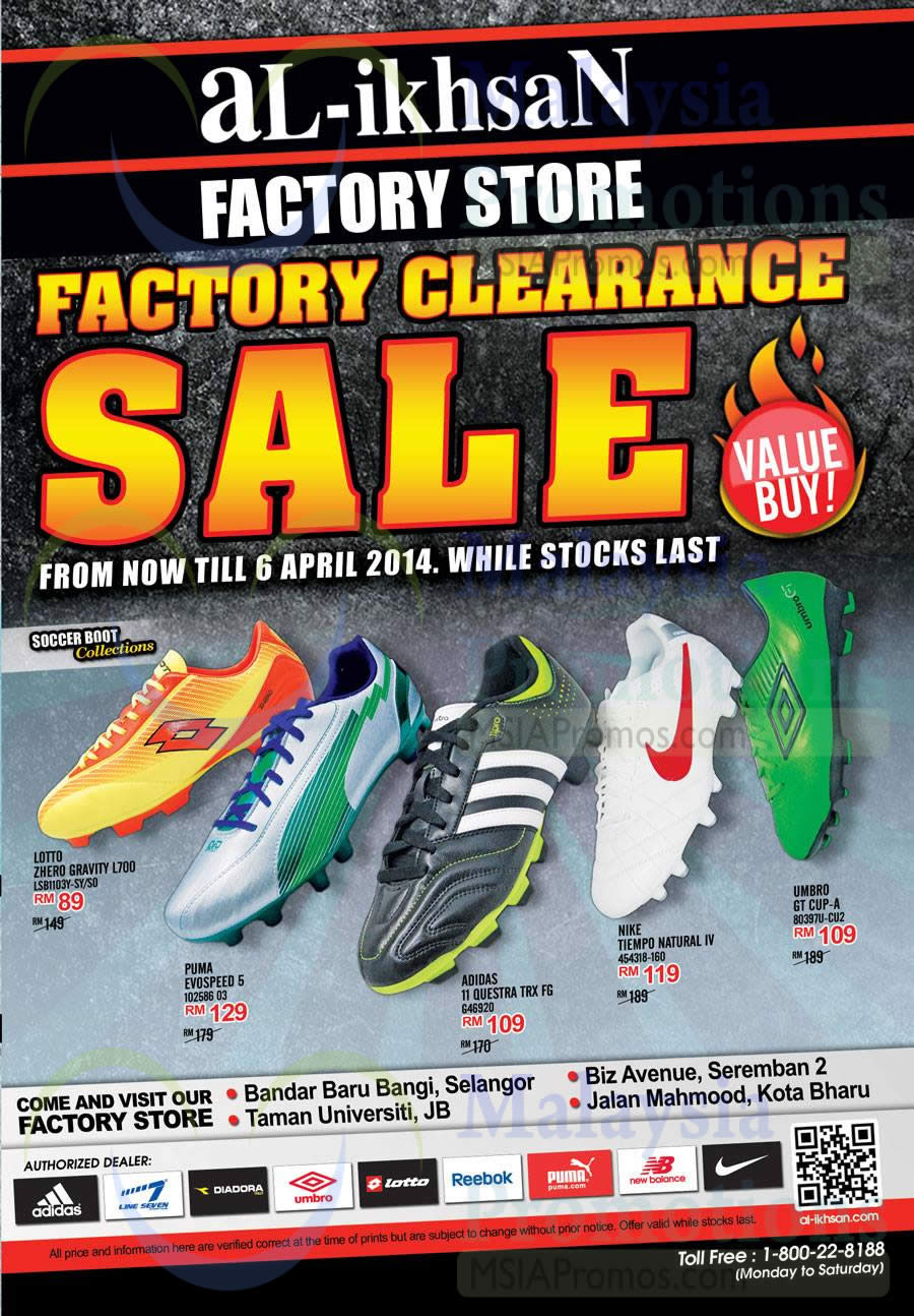Al Ikhsan Factory Clearance Sale Factory Stores 17 Mar