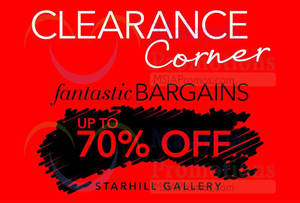 Featured image for Debenhams NEW Clearance Corner @ Starhill Gallery 31 Mar 2014