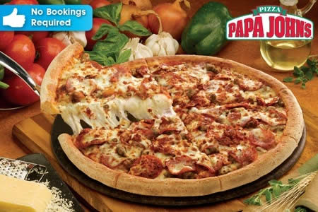 Featured image for Papa John's Pizza 50% Off RM20 Cash Voucher @ 31 Outlets Klang Valley, Ipoh & Melaka 4 May 2015