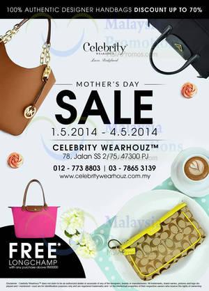 Featured image for Celebrity WearHouz Handbags SALE @ Petaling Jaya 1 May 2014