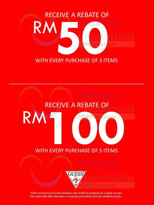 Featured image for Guess Buy 3 Items & Get RM50 OFF @ Johor Premium Outlets 30 Apr – 4 Jun 2014