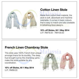Featured image for Muji 10% OFF Stoles Promo 29 Apr – 1 May 014