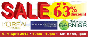 Featured image for OnlyBeauty L'Oreal Mega SALE @ MH Hotel Ipoh 4 – 6 Apr 2014