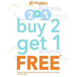 Featured image for Payless Shoesource Buy 2 Get 1 FREE Promo 16 – 22 Apr 2014
