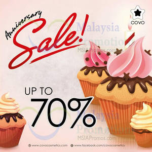 Featured image for Covo Cosmetics Up To 70% OFF Anniversary SALE 1 – 31 May 2014