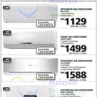 Air Conditioners Mitsubishi Sharp Panasonic Electrolux