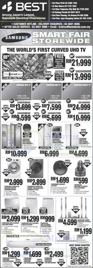 Featured image for Best Denki Samsung Smart Fair TV, Washers, Fridges & More Offers 30 May 2014