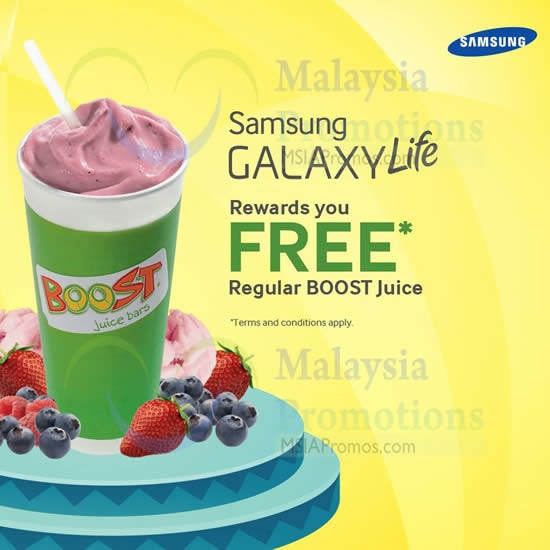Boost Juice Bars FREE Drink For Galaxy Life App Users @ West