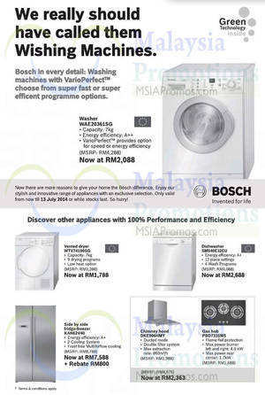 Featured image for Bosch Appliances Offers 31 May 2014