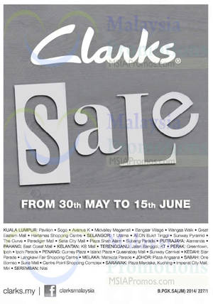 Featured image for Clarks SALE 30 May – 15 Jun 2014