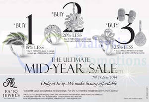 Featured image for Fa'iq Jewels Mid Year SALE 31 May – 28 Jun 2014