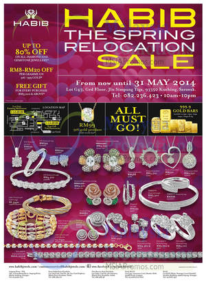 Featured image for Habib Jewels Relocation SALE @ The Spring Sarawak 21 – 31 May 2014
