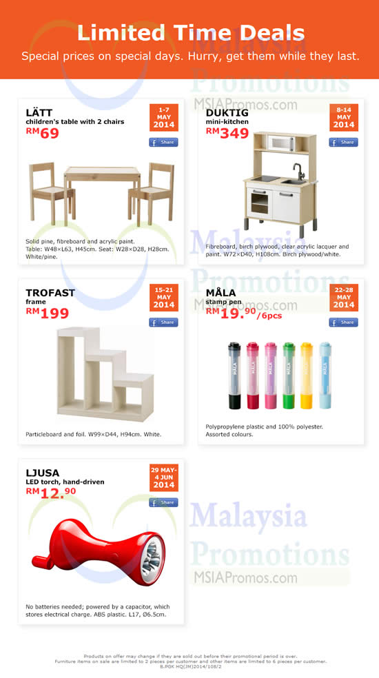 Ikea Limited Time Deals 1 May 4 Jun 2014