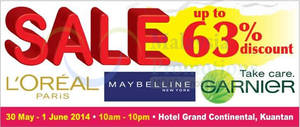 Featured image for OnlyBeauty L'Oreal Mega SALE @ Hotel Grand Continental Kuantan 30 May – 1 Jun 2014