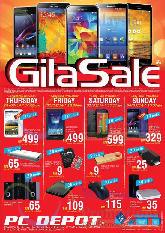 Featured image for PC Depot GILA Sale Offers @ Prai Penang 1 - 4 May 2014