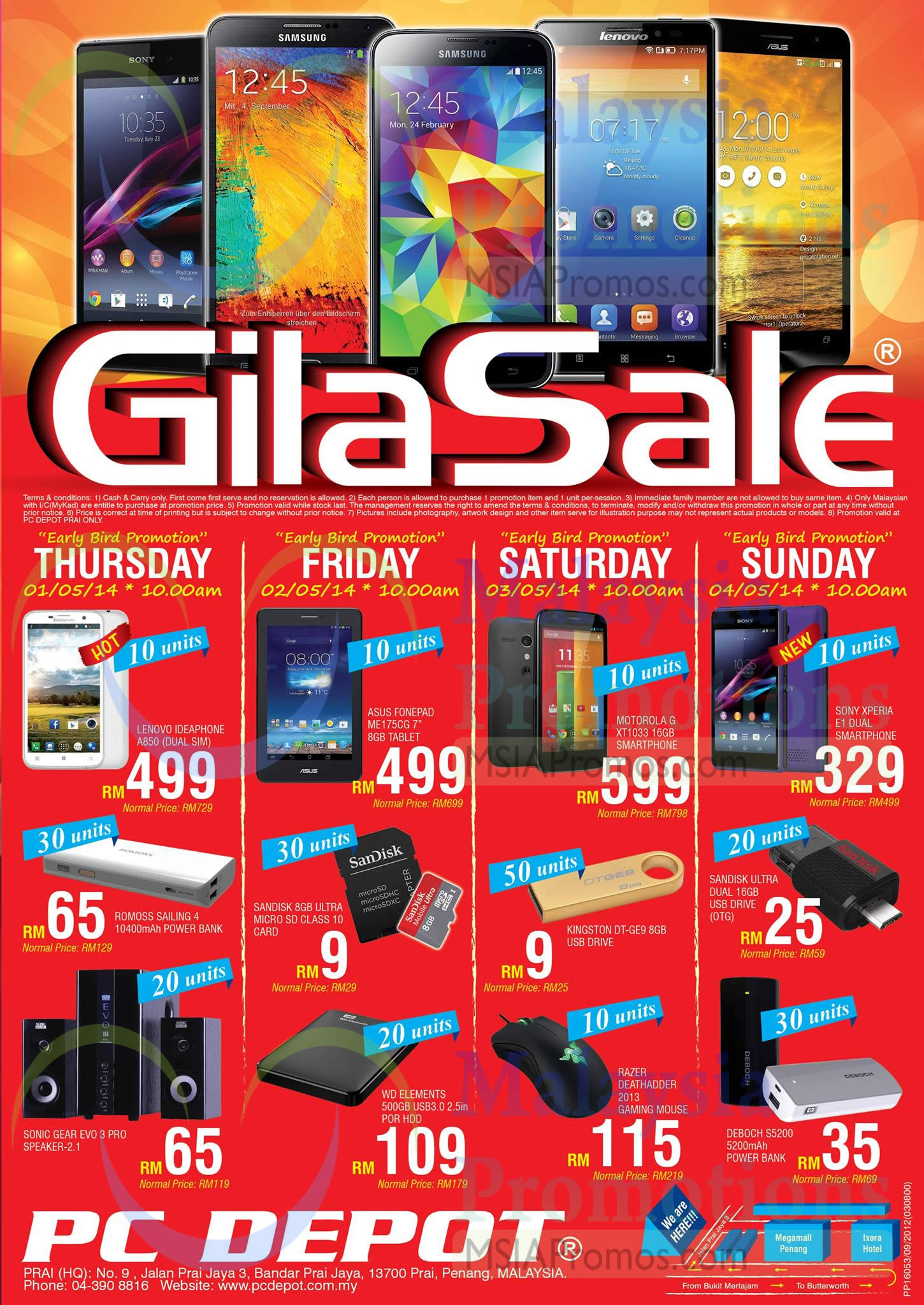 PC Depot GILA Sale Offers @ Prai Penang 1 – 4 May 2014