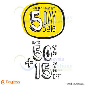 Featured image for Payless Shoesource Up To 50% OFF Storewide 14 – 18 May 2014