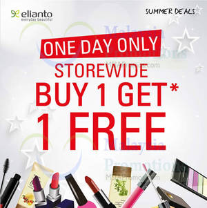 Featured image for Elianto Buy 1 Get 1 FREE Promo @ Nationwide 22 Jun 2014